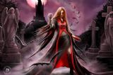 ANNE STOKES- BLOOD MOON  3D BOOKMARK
